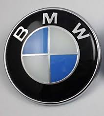 bmw genuine roundel emblem with 2 grommets for
