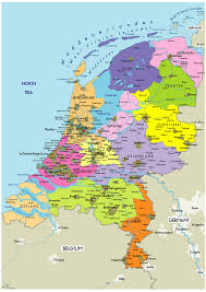 netherlands map large political map of netherlands