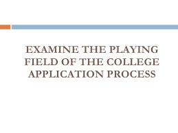 student services the common application and creating a competitive c u2026