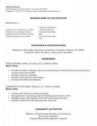 bank teller resume cover letter no experience printable best cover