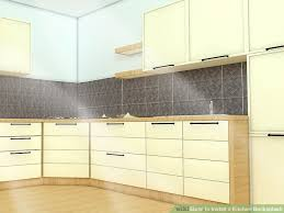 how to kitchen backsplash how to install a kitchen backsplash with pictures wikihow