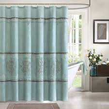 Chocolate Brown And Blue Curtains Buy Chocolate Shower Curtain From Bed Bath U0026 Beyond