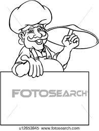 cuisine dessin animé clipart annonce boulanger affaires signent business signes