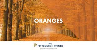 ppg pittsburgh paints orange paint colors