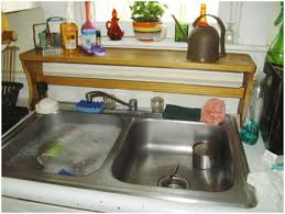 Kitchen Sink Backsplash Kitchen Sinks Undermount Over The Sink Shelf Double Bowl