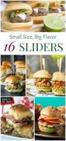 16 sliders with small size but big flavor