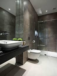 Contemporary Tile Bathroom - dark tiled bathroom houzz