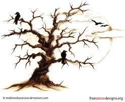 crows in dead tree design tree tattoos dead
