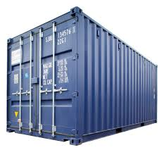 trip new 20ft iso shipping container blue ral5013