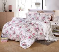 floral silk bedding set duvet cover set modern design twin full