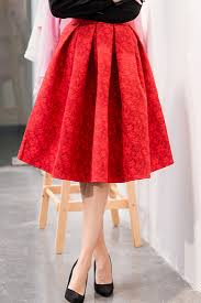 pleated skirt fashion structured pleated skirt oasap