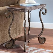 Power Chairside End Table Signature Design By Ashley Rafferty Chairside End Table With Shelf