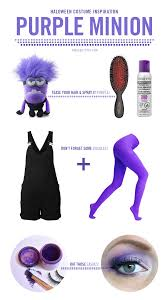 halloween color hair spray halloween makeup purple minion jennie kay beauty