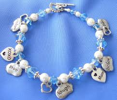 Baby Name Bracelets Mother Bracelets Baby Bracelets Name Bracelets Birth Stone