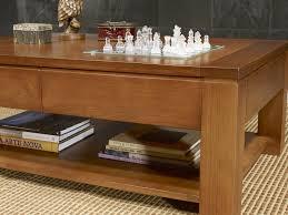 Table Chene Massif Moderne by Table Basse Bois Massif Carr E Table Basse Avec Rangement Tiroir