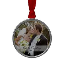 wedding photo ornament this simply