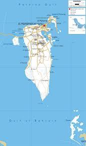 map of bahrain detailed clear large road map of bahrain ezilon maps