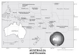 Blank Map Of World Physical by Australia And Oceania Physical Geography National Geographic