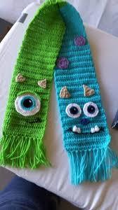 bufandas mis tejidos tejer en navidad manualidades navidenas bufanda mike y sully de monstruos s a amantes cine y navidad
