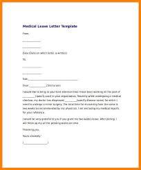 leave application template doc 464600 sample medical