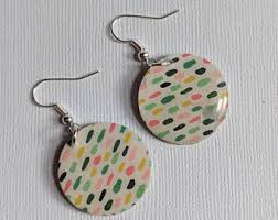 handmade paper earrings paper earrings etsy