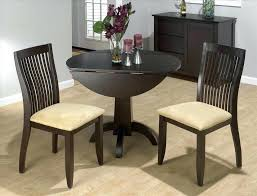 round drop leaf table and 4 chairs one sided drop leaf table the drop leaf dining tables intended for