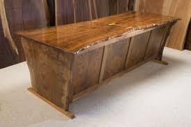 Modern Rustic Desk Rustic Desk Claro Walnut Hourglass Shaped Slab Desk Dumond S