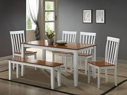 Kitchen Table With Bench - White kitchen table with bench