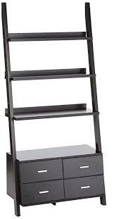 coaster 4 drawer ladder style bookcase amazon com coaster 800319 home furnishings ladder bookcase