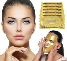 Collagen Mask anti aging 24k gold collagen power mask 3 pack fashion muse
