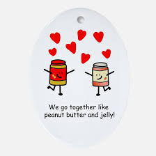 peanut butter and jelly best friend ornament cafepress