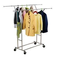 wardrobe racks astounding rolling hanging rack rolling laundry