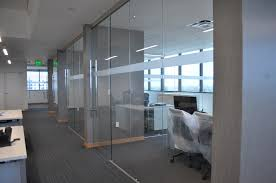 framless glass doors frameless glass office fronts with walls protruding nfcu