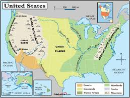 Great America Map by Geography Blog Physical Map Of The United States Of America