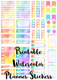 erin condren life planner free printable stickers free printable set of watercolor stickers for your erin condren life