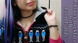 make tattoo necklace images How to make a choker necklace with loom bands jpg