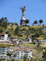 winged virgen by legarda on the panecillo s hill quito historic