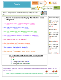 plurals worksheet by noellovell123 teaching resources tes