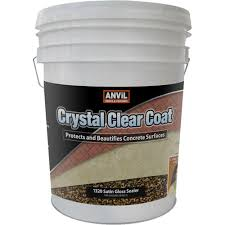 Concrete Patio Sealer Reviews by Anvil 5 Gal Crystal Clear Coat Satin Gloss Waterproofer Interior
