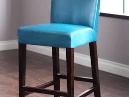 White Leather Bar Stool Sofa Alluring Remarkable White Leather Bar Stool Blue Stools Uk