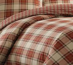 amazon com eddie bauer edgewood plaid duvet cover set king red