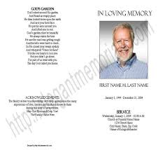 Funeral Programs Wording Blank Funeral Program Template Memorial