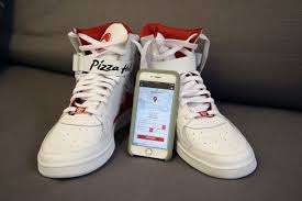 pizza ordering pie tops sneakers are as good a reason as any to