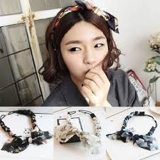 braid hairband korean fashion chiffon floral bowknot braid headbands