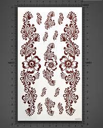 3pcs lot 10 17 5cm 3 vine design diy 3d large tattootemporary