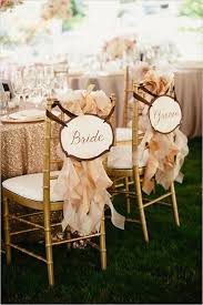 and groom chair signs 50 creative wedding chair decor with fabric and ribbons deer