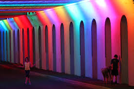 lightrails alabama underpass springs to with a rainbow