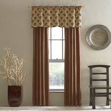 Dining Room Valance Curtains Modern Room With Black Chair Near Brown Traditional Fabric Valance