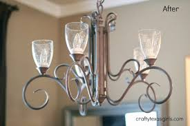 Chandelier Makeover Crafty Texas Girls Chandelier Makeover For 35 No Painting Required