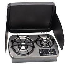 Two Burner Gas Cooktop Propane Rv Cooktop Ebay